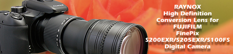 Raynox conversion lens and accessories for Fujifilm FinePix
