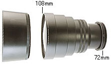 Adapter ring F72-M77mm for 77mm filter size camera